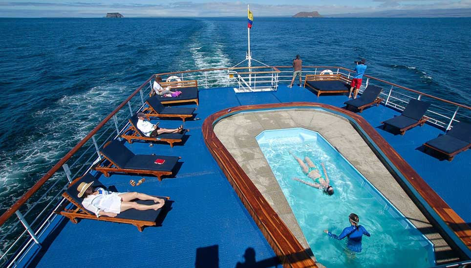 MV Galapagos Legend deck