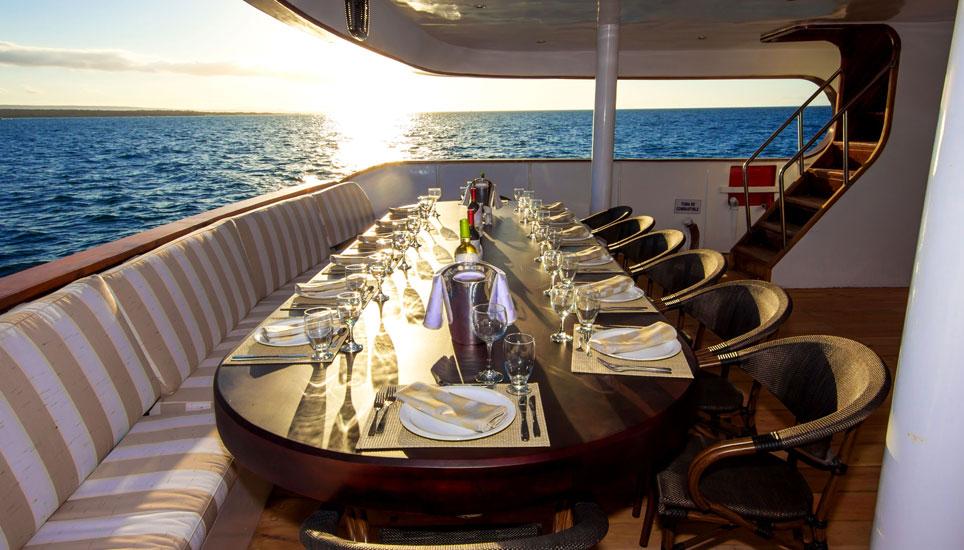 Galapagos Odyssey deck dining