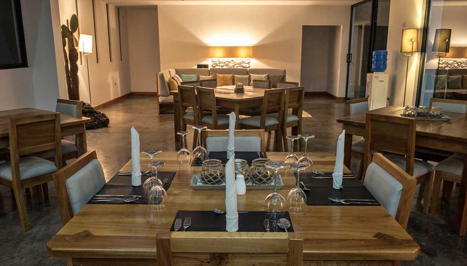 Scalesia Lodge seating area