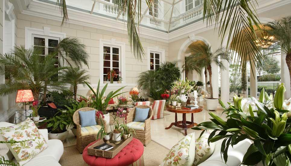Casa Gagontena indoor courtyard