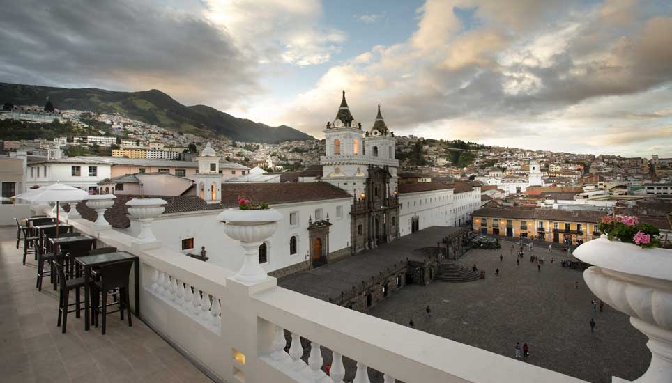 Casa Gangotena view from roof terrace