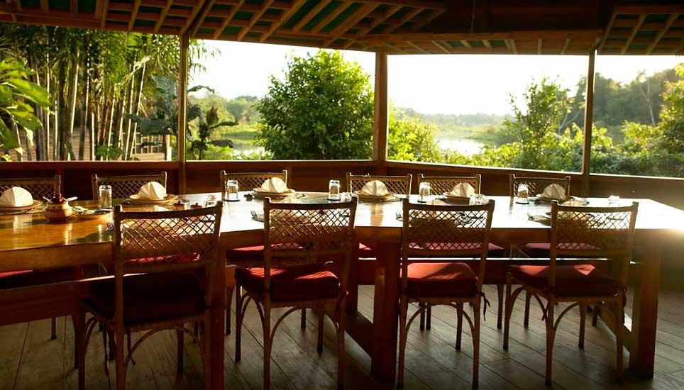 Sani Lodge dining