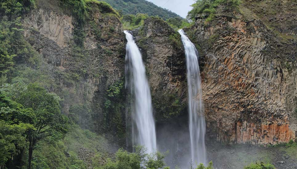 waterfall near Banos