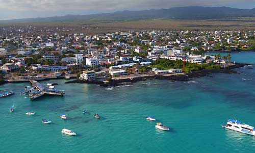 Puerto Ayora city at Santa Cruz island