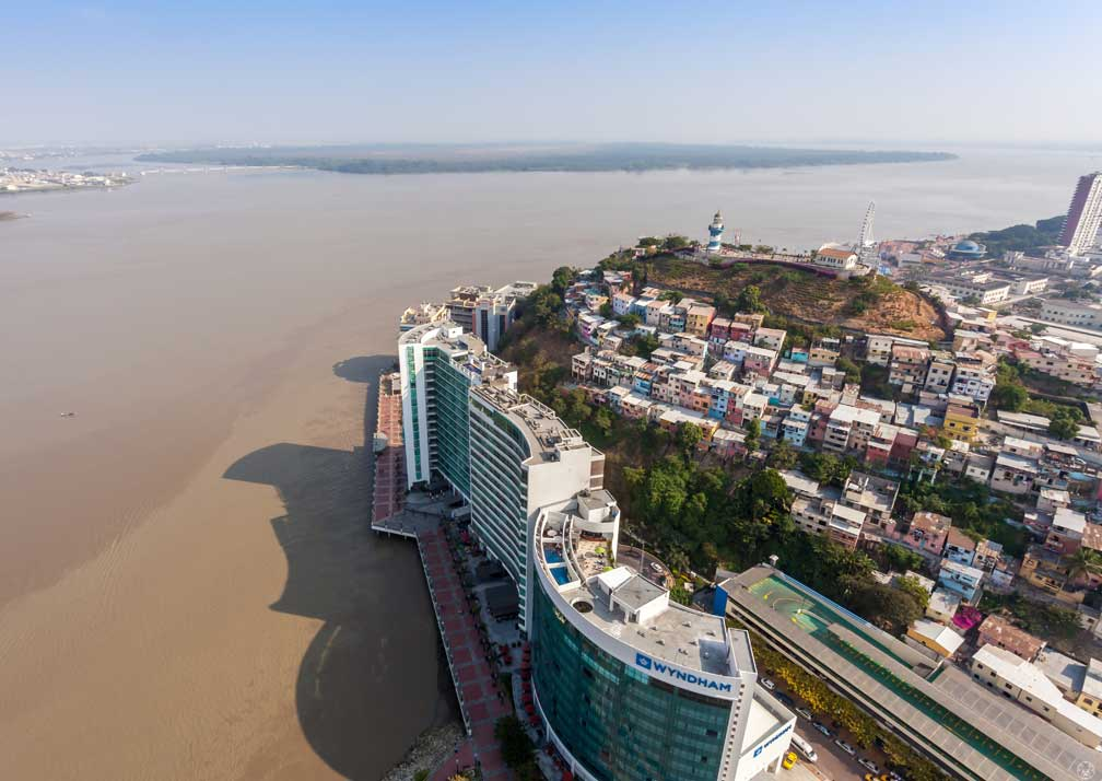 Aerial view of Wyndham Guayaquil